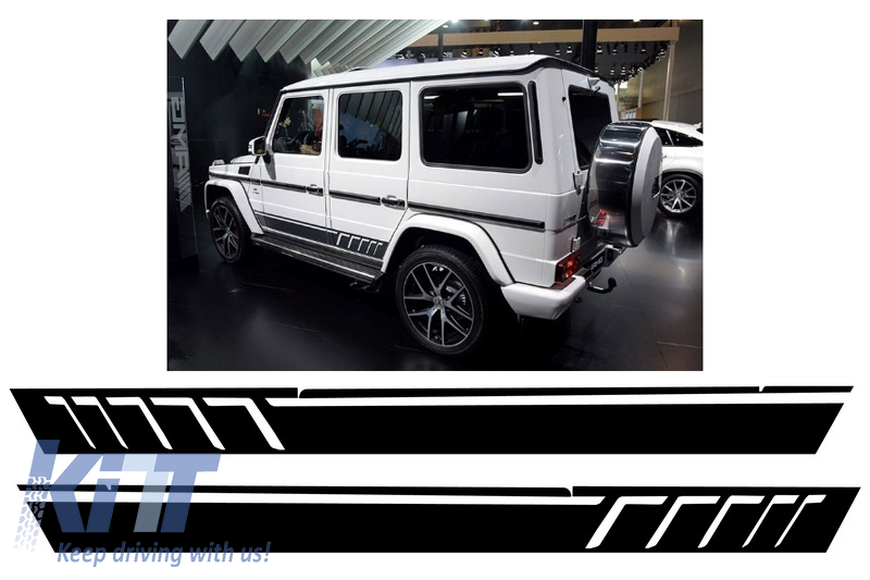 Side Decals Sticker Vinyl Matte Black Mercedes G-class W463 (1989-2017) AMG Design