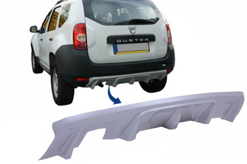 Rear Bumper Skid Plate Protection Dacia Duster 4x4 / 4x2 (2010-up)