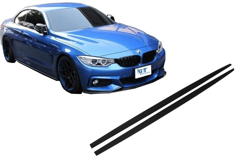 Side Skirts Add-on Lip Extensions suitable for BMW 4 Series F32 F33 F36 Coupe Cabrio Grand Coupe M-Performance