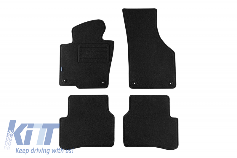 Floor mat Carpet graphite suitable for VW Passat all Models 2007-10/2010, Passat all Models 11/2010-10/2014, CC 02/2012-11/2016
