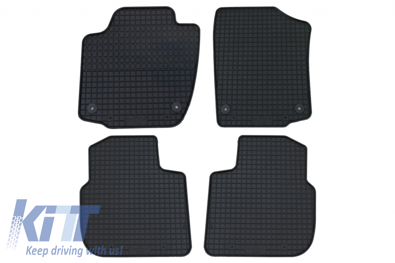 Floor mat black fits to SEAT Toledo (2013-2018) suitable for SKODA Rapid (2012-) Rapid Spaceback