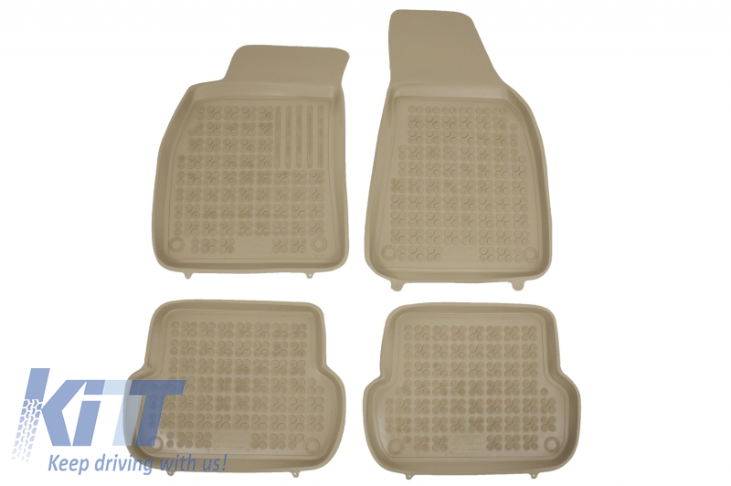 Rubber Floor mat Beige suitable for AUDI A4 (B6, B7) 11/2000-10/2007