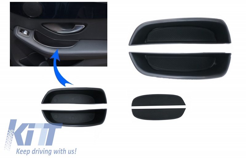 Rear Doors Storage box for Mercedes C-Class W205 S205 Limo T-Modell (2014-2018) GLC X253 (2015-2018)