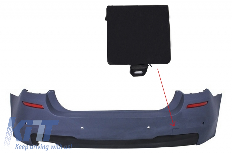 Tow Hook Cover Rear Bumper suitable for BMW 5 Series F10 (2011-up) M-tech Design
