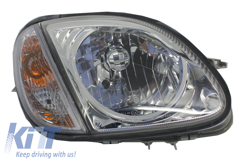 Headlight Repleacement Right Side Mercedes Benz R170 SLK (1996-2002) Black