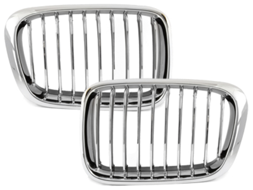 BMW E46 Limo./Touring 3 Series 98-01 Front Grills Chrome