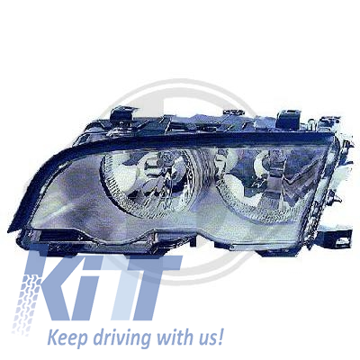 BMW 3 series E46 1998-2001 Replacement Right Side Headlight Chrome