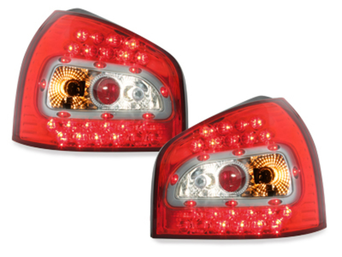 LED taillights Audi A3 8L 09.96-04 _ red/crystal