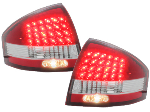 LED taillights Audi A6 97-04 _ red/crystal