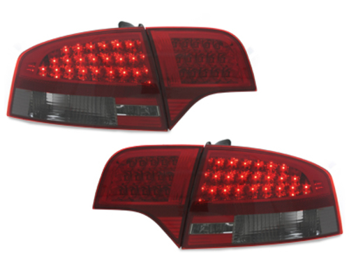 LED taillights Audi A4 Lim.04-08_4 pieces_ red/crystal