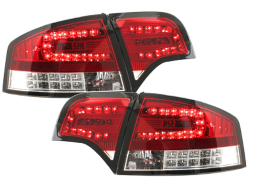 LED taillights  Audi A4 B7 Lim.04-08_LED indicators_red/crys