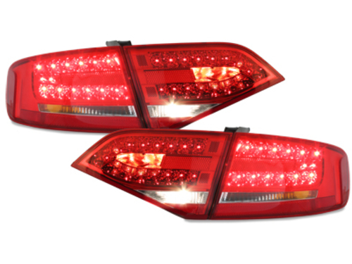 LED taillights Audi A4 B8 8K Lim. 07+_red/crystal - RA14DLRC
