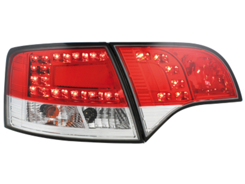 LED taillights Audi A4 Avant B7 04-08_red/crystal