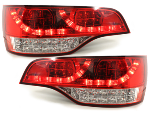 LED taillights Audi Q7 05-09 _red/crystal