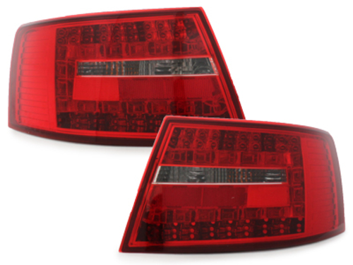 LED taillights Audi A6 4F Limousine 04-08 _ red/clear