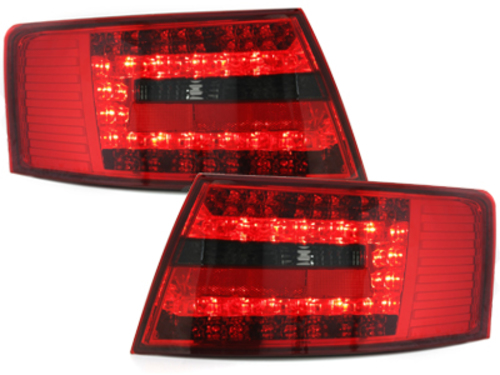 LED taillights Audi A6 4F Lim. 04-08 red/smoke - RA19ELRS