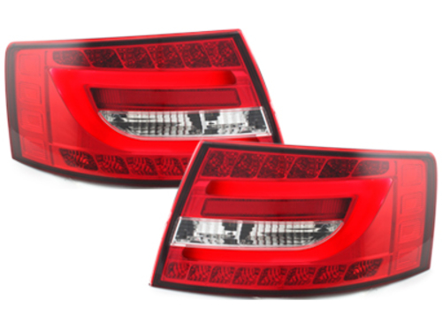 **LED taillights Audi A6 Lim.04-08_red/crystal - RA19SLRC