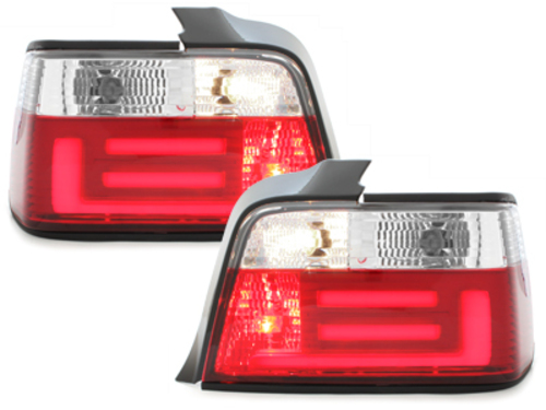LED taillights BMW E36 Sedan 92-98 red / clear