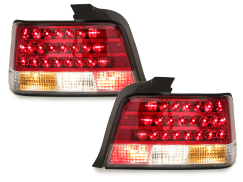 LED taillights BMW E36 Lim.  92-98 _ red/crystal