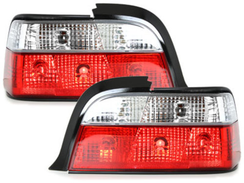 Taillights BMW E36 Coupe _ red/crystal