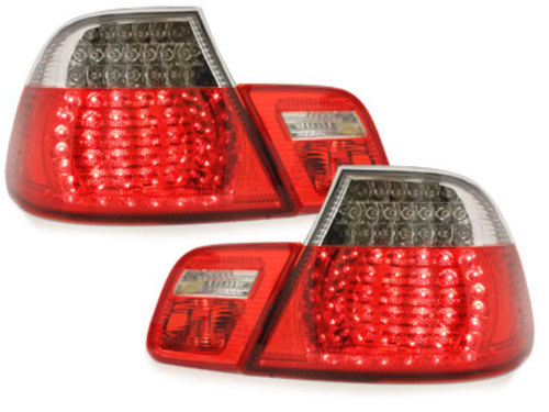 LED Taillights suitable for BMW 3 Series E46 2D Coupe Facelift  (2003-2006) Red/Crystal