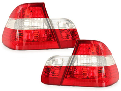 taillights BMW E46 4D 10/01-2/05 _ red/crystal