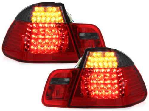 LED taillights BMW E46 4D 02-04 _ red/black