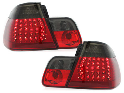 LED taillights BMW E46 4D 02-04 _ red/smoke