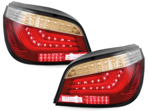 LED-Lightbar Tail Lights BMW E60 5ER 07-09 Red/Clear F10 Design - RB26ALLRC
