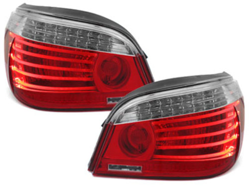 LED Taillights LCI design BMW E60 04.03-03.07 red/clear Facelift look