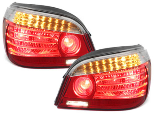 LED taillights BMW E60 04.03-03.07 _ red/crystal - RB26DLRC