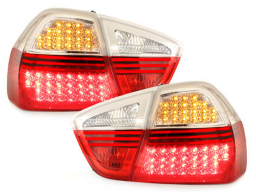 LED Taillights BMW E90 3er Lim. 05+ _ red/clear
