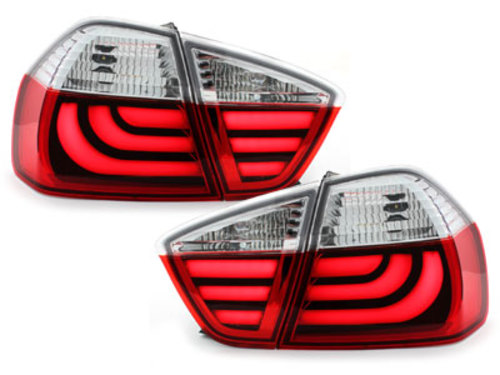 LED taillights suitable for BMW E90 3er Lim. 05-08_red/crystal