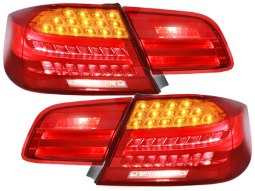 LED Taillights BMW E92 Coupe 2D 05-09 Red/Clear - RB31DLRC