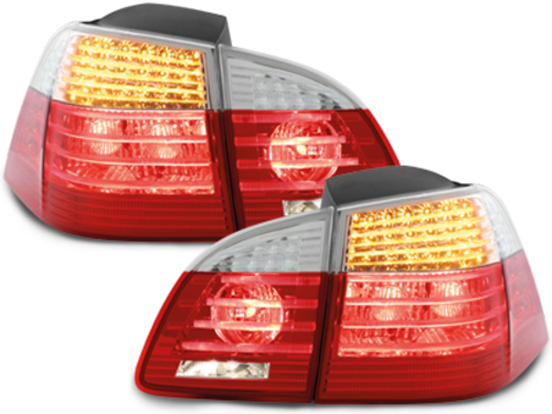 LED taillights BMW E61 Touring 04-07 red/crystal