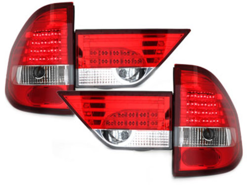 LED taillights BMW E83 X3 04-06_ red/crystal