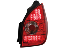 LED taillights Citroen C2 02-05 _ red/crystal