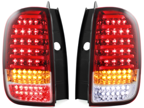 carDNA Taillights DACIA Duster LIGHTBAR 2009+ Red / Red-Clear