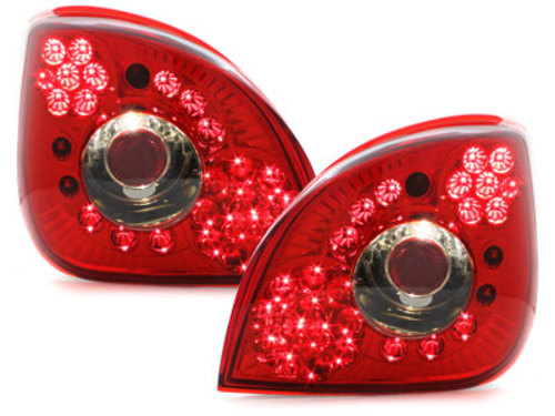 LED taillights Ford Fiesta 4/5 95-99 _ red/crystal