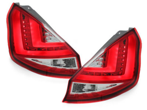 LED taillights Ford Fiesta MK 7 08+ red/crystal