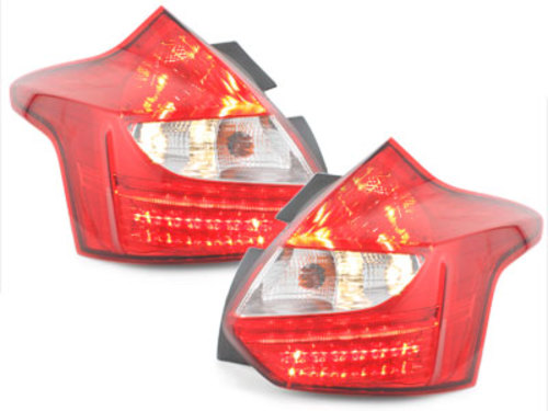 LED Taillights Ford Focus 2011+ red/clear - RF15DLRC