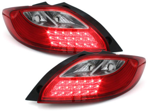 LED taillights Mazda 2 07-10_red/clear