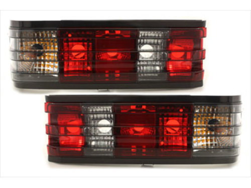taillights Mercedes Benz W201 82-93 _ 190E _ red/black