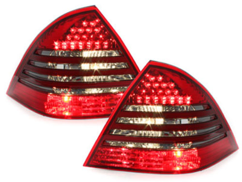 LED taillights Mercedes Benz W203 C-Class 00-04 _ red/black