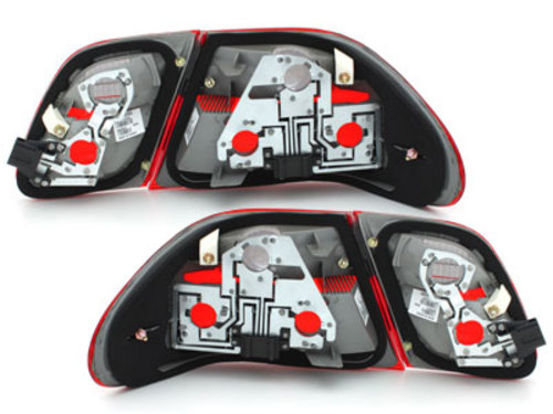 taillights Mercedes Benz E-Class W210 95-02 _ red/crystal