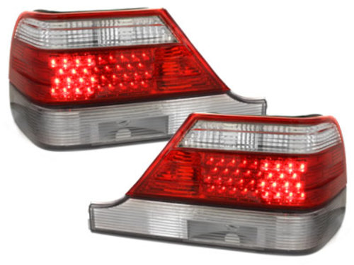 LED taillights Mercedes Benz W140 S class 92-98_red/crystal