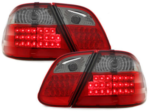 LED taillights Mercedes Benz CLK C208 06.97-06 _ red/black