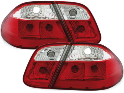 taillights Mercedes Benz CLK W208 06.97-02 _ red/crystal
