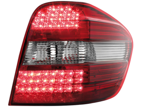 LED taillights Mercedes Benz M-Klasse 05+ _ red/crystal