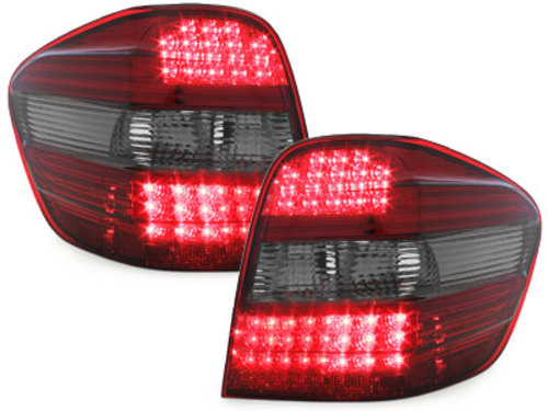 LED taillights Mercedes Benz M class 05+ W164_smoke/red